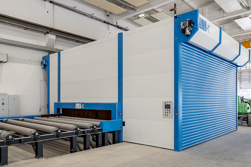 Production machine for sheet metal processing